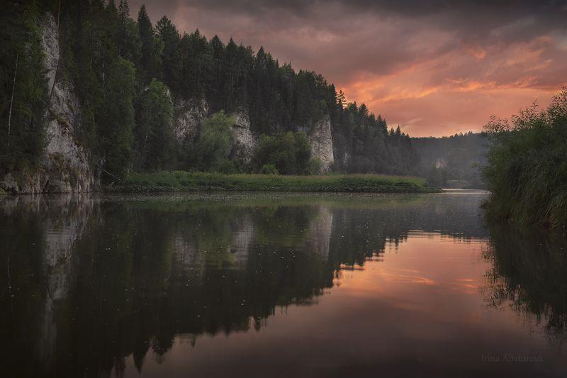 урал, оленьи ручьи, река, серга, закат Закат на реке Сергаphoto preview