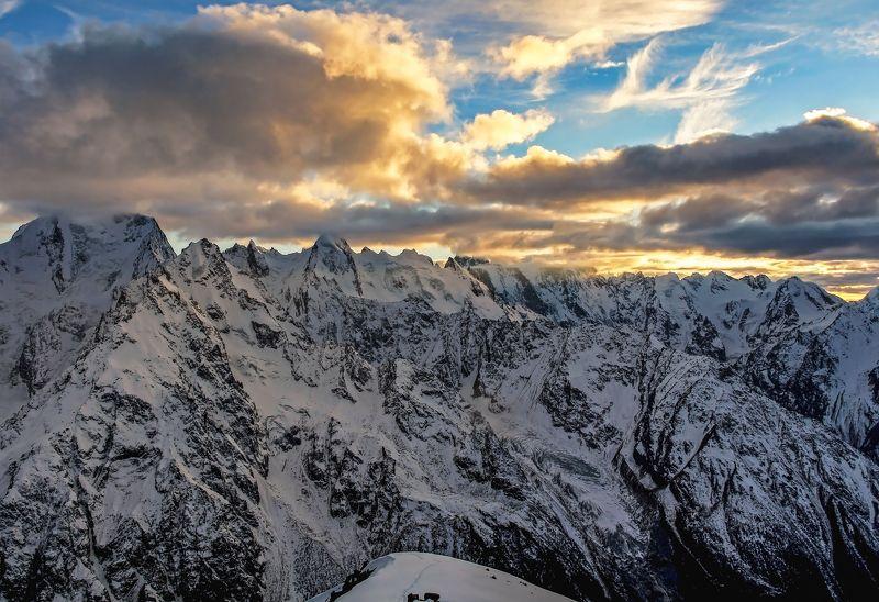 альпинизм, кавказ,закат на закате...photo preview