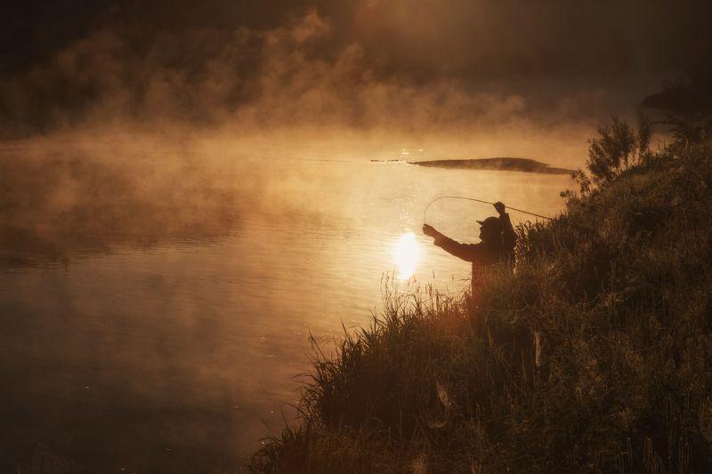 озеро, горы, лес, природа, закат, рассвет, красота, приключения, путешествие На зорьке утренней...photo preview