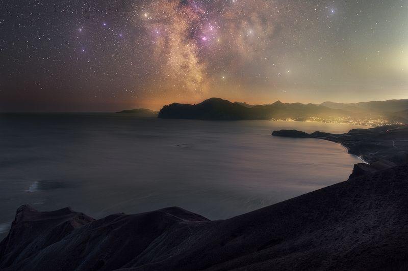 звезды, джан-кутаран, хамелеон, орджоникидзе, крым, млечный путь, юбк, milky way, осень, астро, черное море, ночь Крымская ночьphoto preview