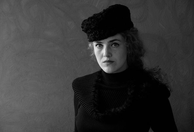 Portrait, female, woman, young, Black & white, hat, people, Norway, mood portrait,  Взгляд из прошлого...photo preview