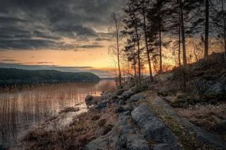 Закат в Кирьявалахти