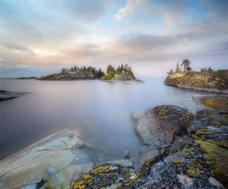 ладога, белые ночи, шхеры, рассвет ,карелия, ладожское озеро Ладожская акварельphoto preview