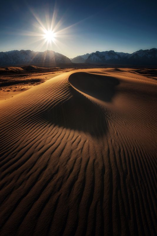 пустыня, дюны,чарские пески гиперболы песчаных дюнphoto preview