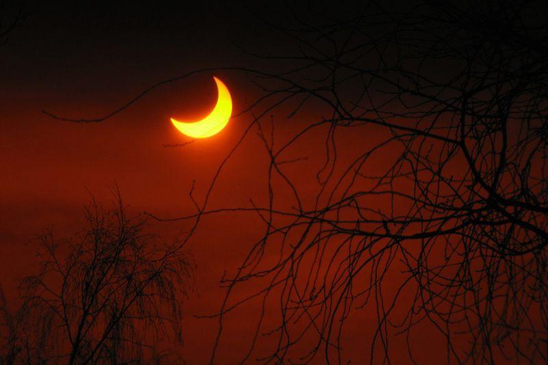 затмение пленка солнечное солнце красное Затмениеphoto preview