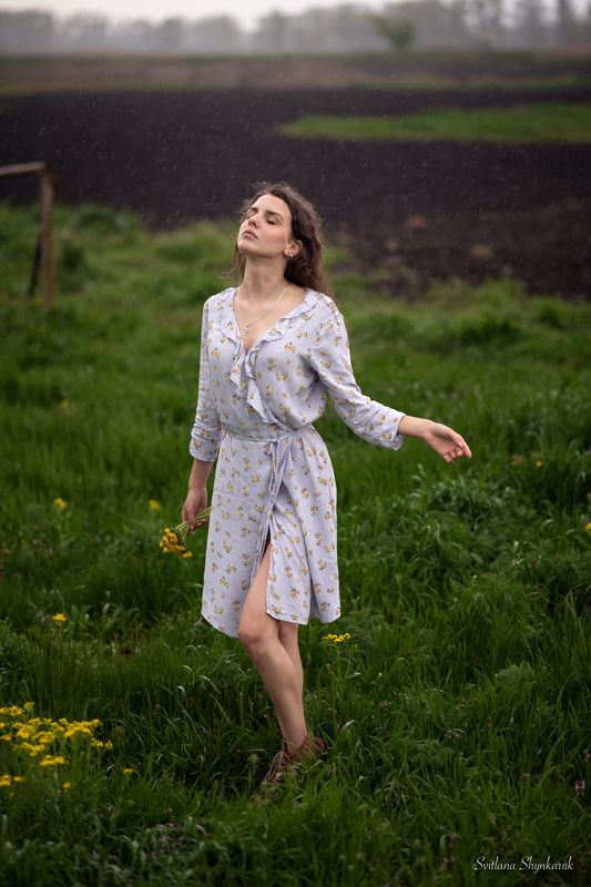 rain, beauty, green, portrait, girl At last...photo preview