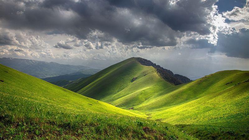кыргызстан, горы Лето Ак-Тюзаphoto preview