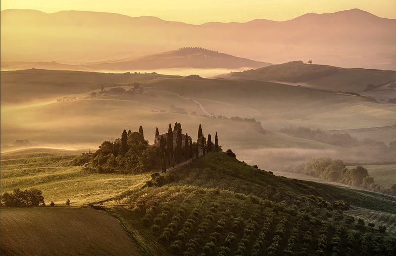 #tuscany, #late, afternoon, #landscape, #nature Early morning Tuscany viewphoto preview