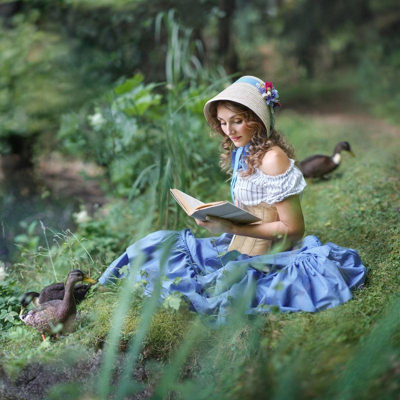 Пруд, портрет, вода, женский портрет Девушка на прудуphoto preview