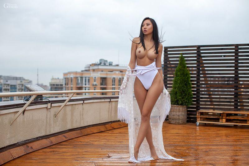 asian, азиатка, alexandergrinn,  купальник, белье, крыша, дождь, одесса Victoryphoto preview