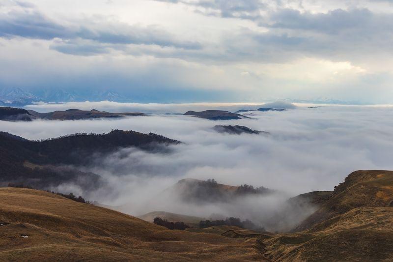 горы,восхождение,кавказ,облака облачный берег....photo preview