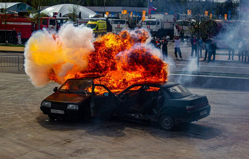 пожар, огонь, машина, дтп, пожарные, fire, firefighter ДТПphoto preview