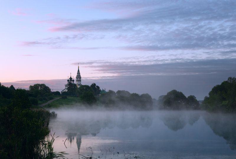 туман, храм, утро, село, валищево Утро в Подмосковьеphoto preview