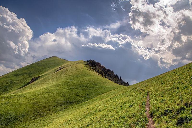 кыргызстан, горы Дорога в небоphoto preview