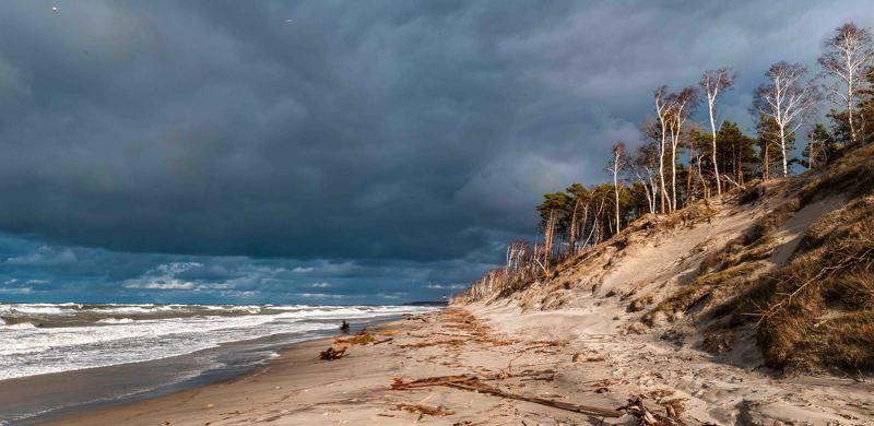 шторм балтика море Над седой равниной моря...photo preview