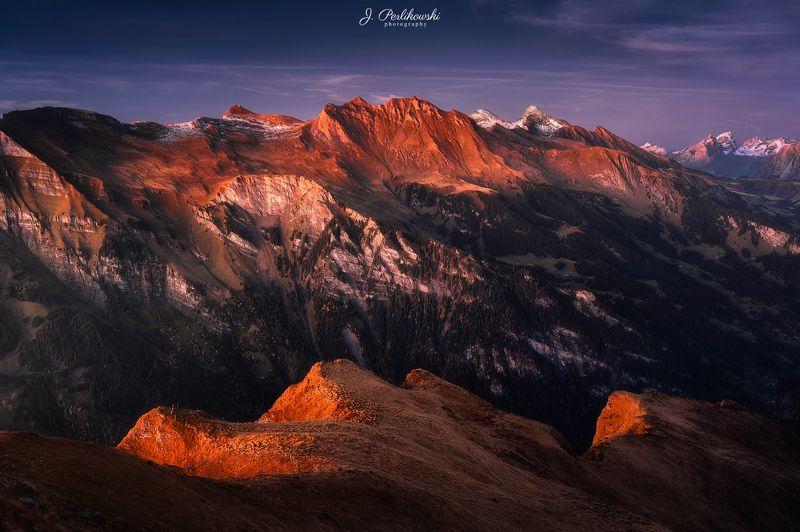 swiss, alps, sunset, Switzerlandphoto preview