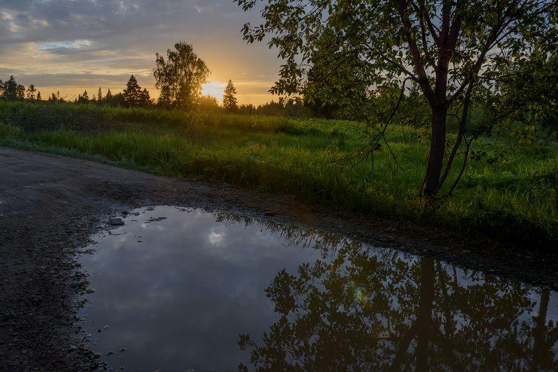 Закат после дождливого дняphoto preview
