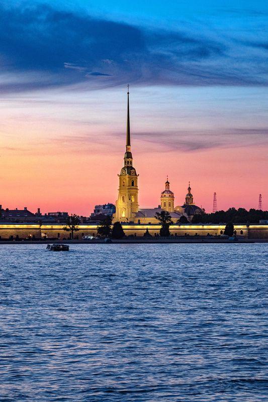 город, пейзаж, санкт-петербург, закат, небо, река Вечная классикаphoto preview