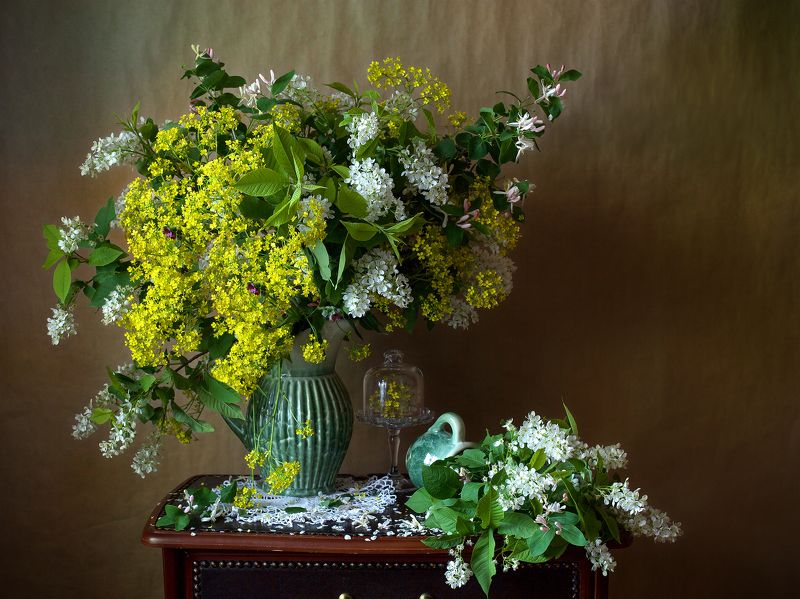 миламиронова, фотонатюрморт, весна, букет, цветы, сурепка, черёмуха, аромат С сурепкой...photo preview