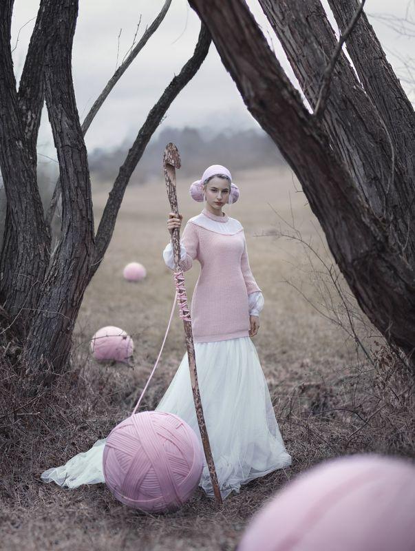 шерсть, сюрреализм, холод, вязание,  Wool girlphoto preview