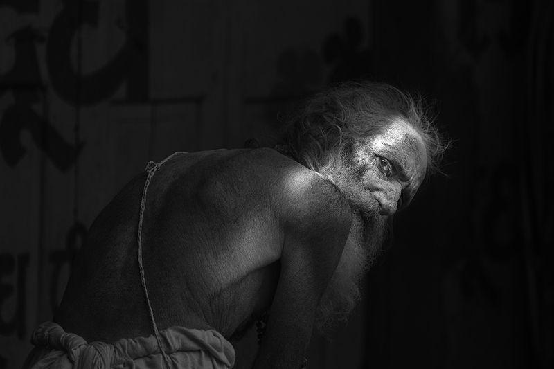 sadhu baba, the holy men, varanasi, india No photos please !photo preview