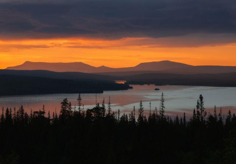 пейзаж,кольский,север,ночь,горы,оеро Имандраphoto preview