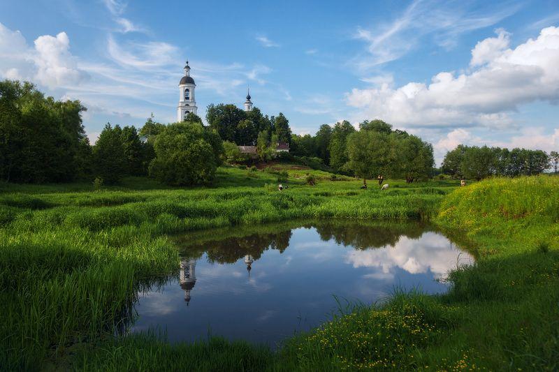 село, храм, лето, филипповское, владимирская область Сельский мотивphoto preview