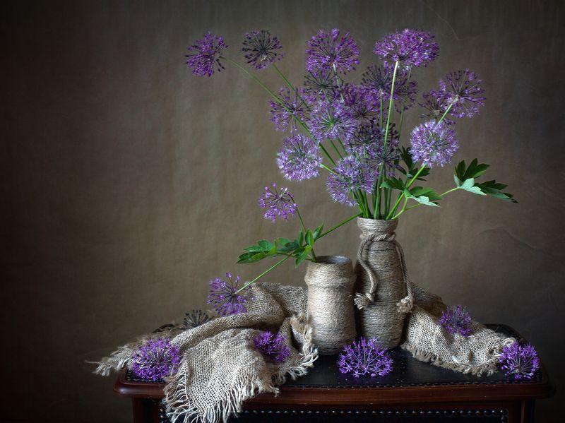 миламиронова, фотонатюрморт, букет, цветы, аллиум Аллиум...photo preview
