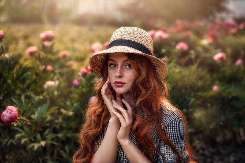 девушка, портрет, рыжая Настя фото превью