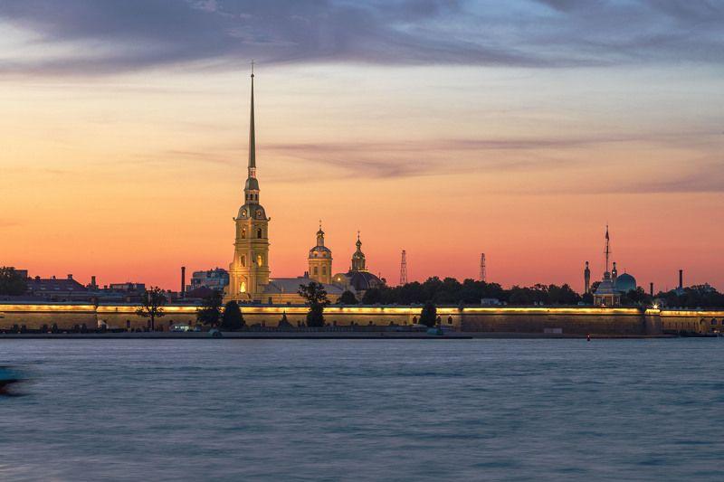 город, архитектура, туризм, путешествие, пейзаж, вечер, закат Классика Белых ночейphoto preview