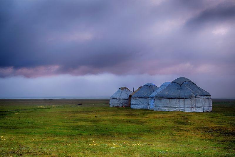 кыргызстан, горы, сон-куль, рассвет Однажды мокрым июньским утромphoto preview