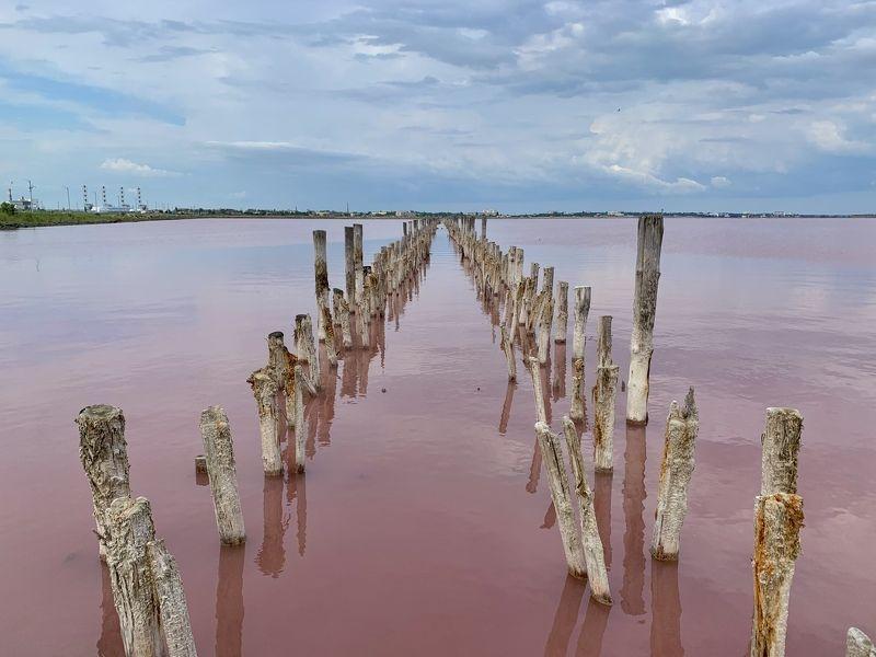 крым, саки, розовое озеро Сакское озероphoto preview