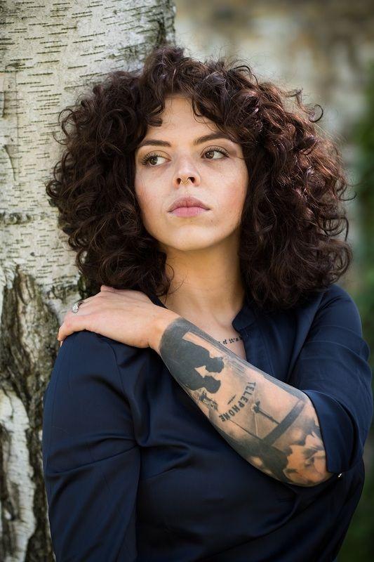 woman, portrait, портрет,  прага, beautiful woman, curly hair, береза, природа, Kristynaphoto preview