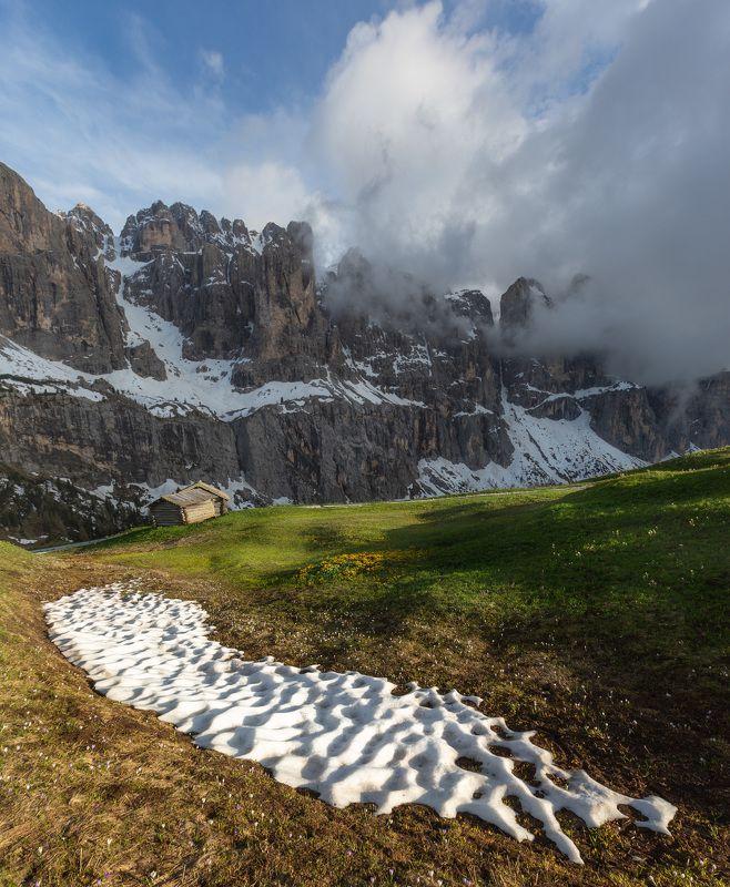 италия, доломиты, горы, облака, закат, лето, природа, landscape, italy, dolomites Доломиты.photo preview