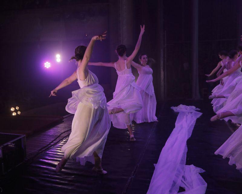 девушки, женщины, цвет, танец  ...photo preview