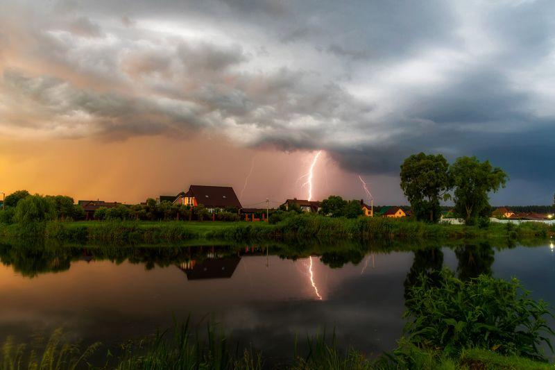 шебекино, титовка, рассвет, гроза, молния, тучи, shebekino, titovka, dawn, thunderstorm, lightning, clouds Такой рассвет.photo preview