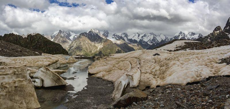 горы, альпинизм, кавказ, ледники в разломах ледника...photo preview