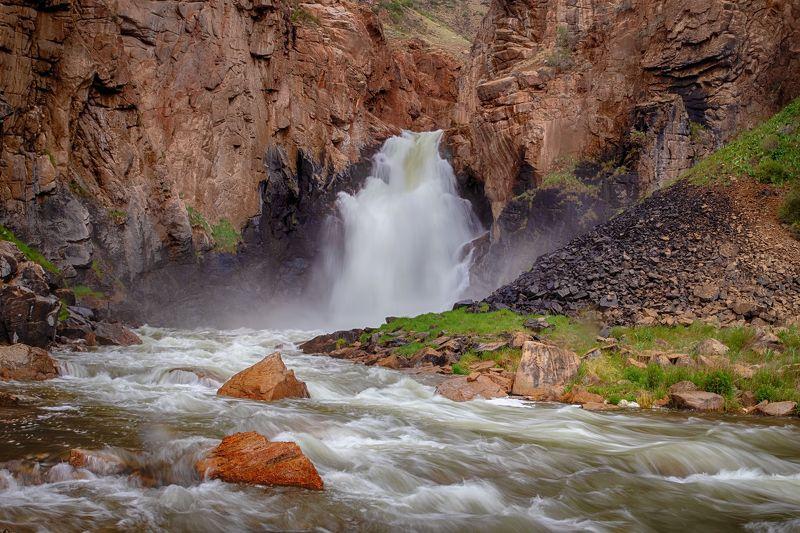 кыргызстан, горы, сон-куль Водопад \