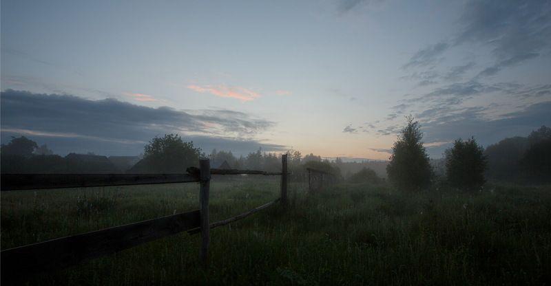 туман, прясла Сельцы, околица 2021photo preview