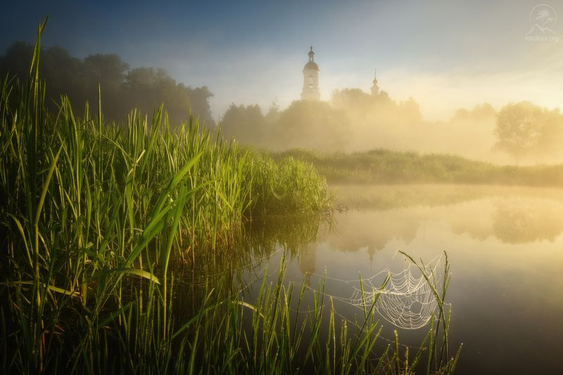пейзаж, церковь, филипповское, туман, утро Июньphoto preview