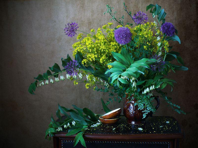 миламиронова, фотонатюрморт, лето, цветы, букет, цветение, полевые Начало лета...photo preview