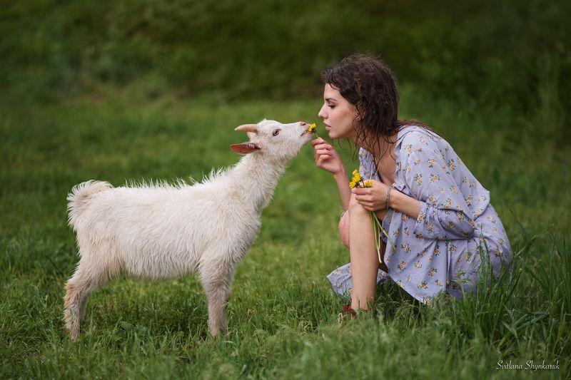 beauty, summer, emotion, portrait, animal, raining Bon appetitphoto preview