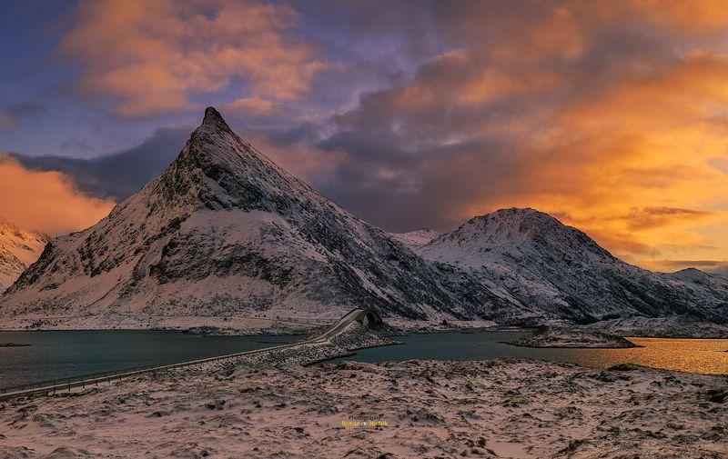 Lofoten, landscape, Norway, sunrise, sunset, clouds, mountains, nature, Lofoten Islandsphoto preview