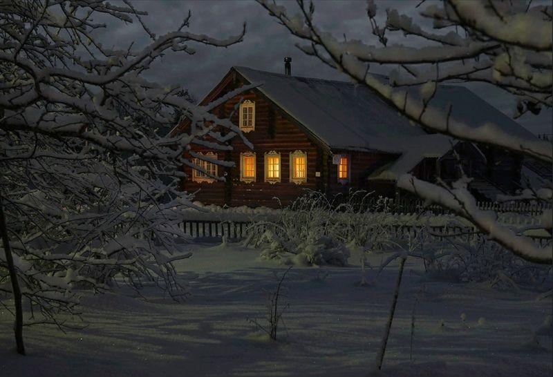 изба, деревня, карелия, зима В снежных объятияхphoto preview