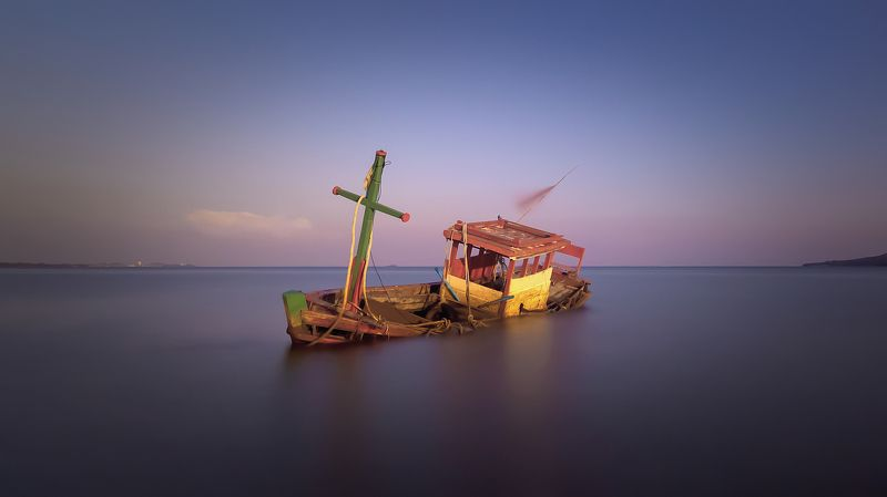 abandoned, sea, outdoors, boat Abandoned boatphoto preview