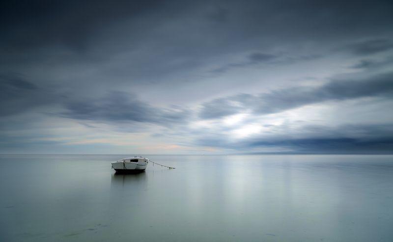 landscape, sea, poland, blue, sky, mirror Boatphoto preview