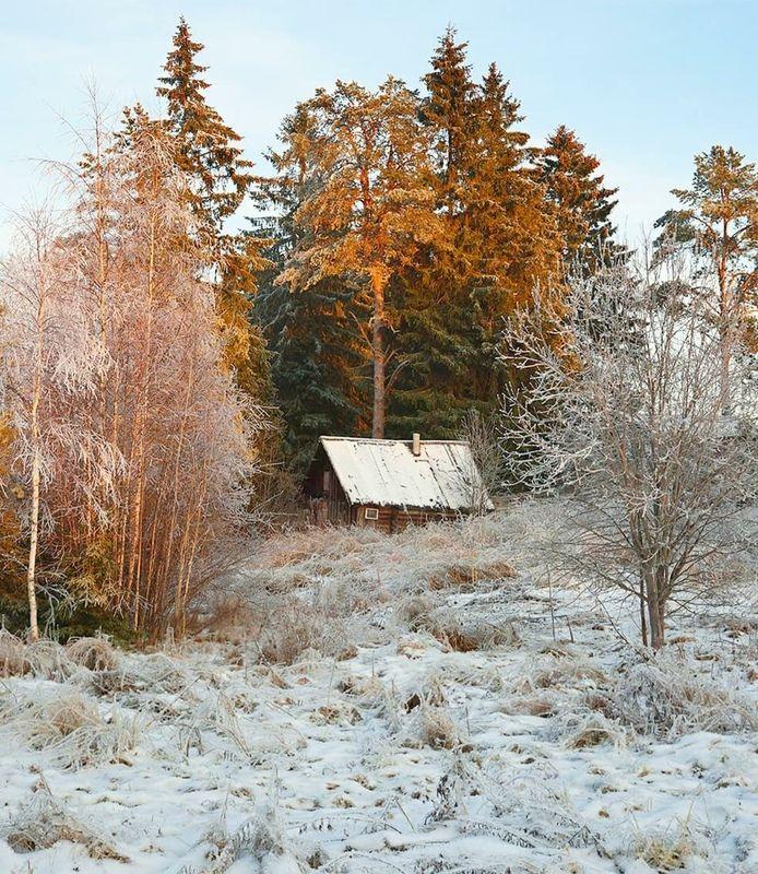 деревня, архитектура, баня, зима Избушкаphoto preview