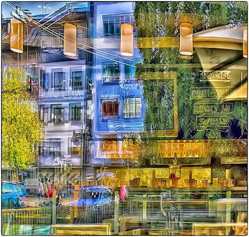 Город в отражениях фото превью