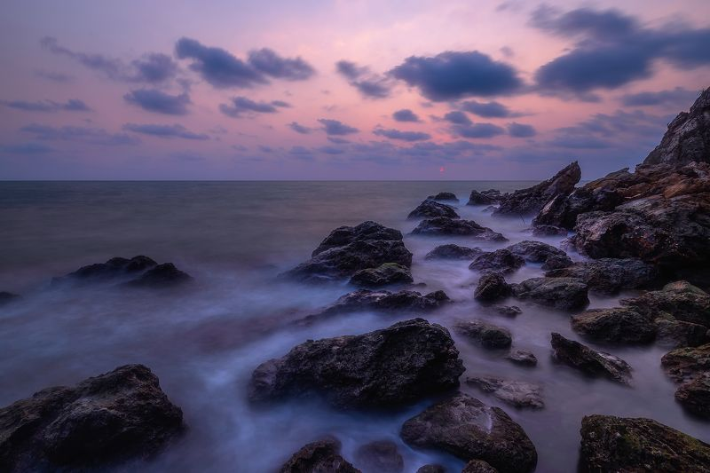 sunset, seascape, long exposure, The blue sunsetphoto preview