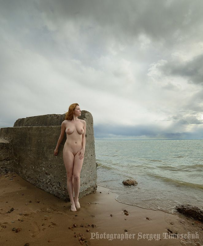 девушка финнский залив Северное лето... Кронштадт...photo preview